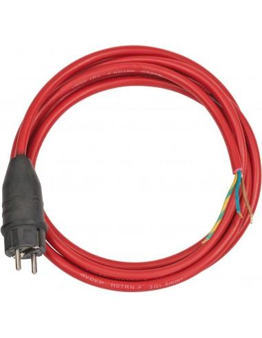 Przewód przyłącza Czerwony 3m H05RR-F...